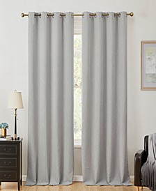 Obscura by Cairns 100% Blackout Grommet Curtain Panels - 50 W x 84 L - Set of 2