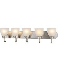 Mari 5-Light Bath or Vanity Light Bar or Wall Mount
