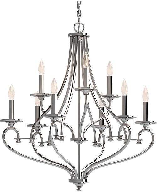 Volume Lighting Tes 9-Light Hanging Chandelier