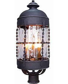 Orleans 4-Light Candle-Style Wrought Iron Lamp/Lantern Post Mount