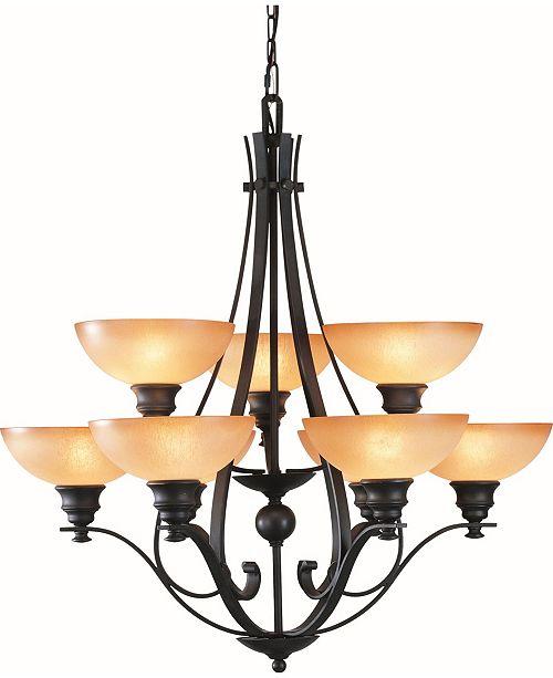 Volume Lighting Rainier 9-Light Hanging Chandelier