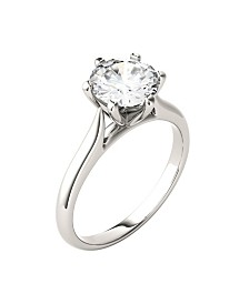 Moissanite Solitaire Engagement Ring 1-1/2 ct. t.w. Diamond Equivalent in 14k White Gold