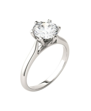 Moissanite Solitaire Engagement Ring 1-1/2 ct. t.w. Diamond Equivalent in 14k White Gold or 14k Yellow Gold