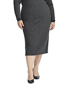 Plus Size Straight-Cut Skirt