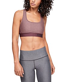 Heathered Cross-Back Medium-Support Compression Sports Bra