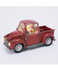 8.75-Inch Long Battery-Operated Water Globe Truck with Timer Feature