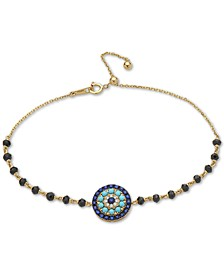 EFFY® Multi-Gemstone Halo Disc Bracelet in 14k Gold