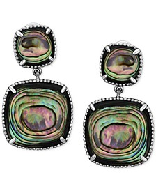 EFFY® Abalone Drop Earrings in Sterling Silver