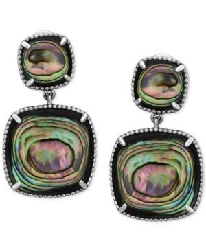 Effy Abalone Drop Earrings in Sterling Silver