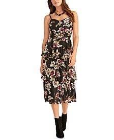 Valia Printed Tiered Dress
