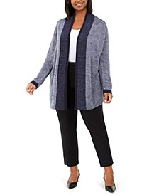 Plus Size Tipped Cardigan Sweater, Created for Macy's