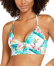 Hot Tropics Printed Jenna Bra Sized Bikini Top, Created for Macy's