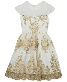 Rare Editions Big Girls Plus Size Embroidered Dress