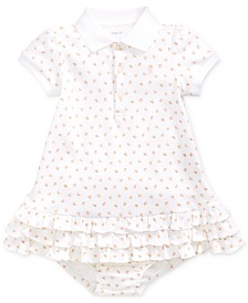 Polo Ralph Lauren Baby Girls Printed Interlock Cupcake Dress