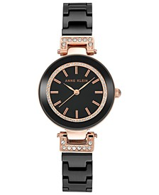 Women's Black Ceramic Bracelet Watch 30mm