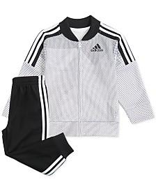 adidas Baby Boys Printed Tricot Jacket & Pants Set
