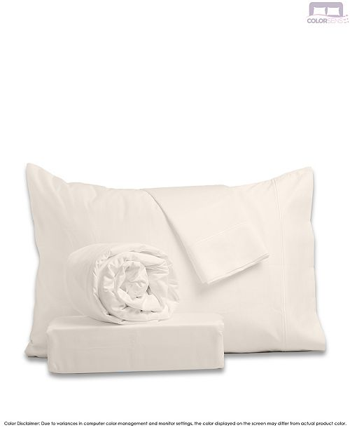 Color Sense Hotel Style Sateen Sheet Set- Queen