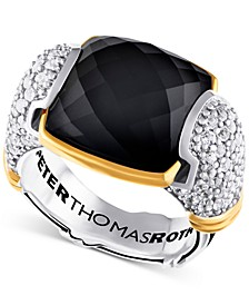 Onyx (5-3/4 ct. t.w.) & White Topaz (1-1/4 ct. t.w.) in Sterling Silver & Gold-Plate