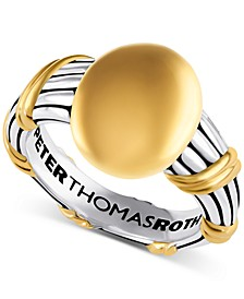 Two-Tone Signet Statement Ring in Sterling Silver & Gold-Plate