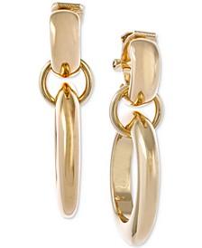 Gold-Tone Double-Hoop Drop Earrings