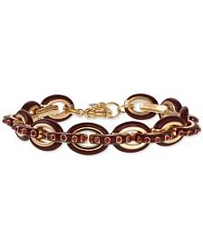 Laundry by Shelli Segal Gold-Tone Pavé & Enamel Chain Link Bracelet
