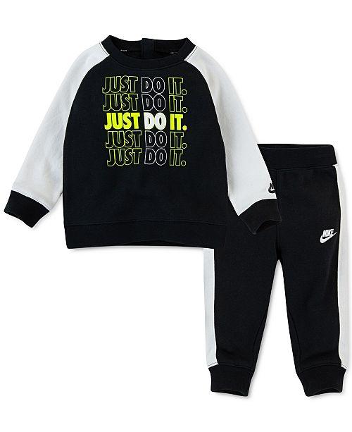 Nike Baby Boys 2-Pc. Fleece Sweatshirt & Jogger Pants Set