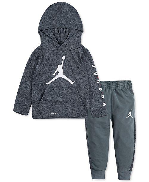 Jordan Baby Boys 2-Pc. Dri-FIT Hooded T-Shirt & Jogger Pants Set