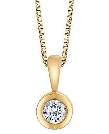 Sirena Diamond (1/10 ct. t.w.) Energy Pendant in 14k White, Yellow or Rose Gold