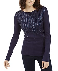 INC Sequined Ribbed Sweater, Created For Macy's