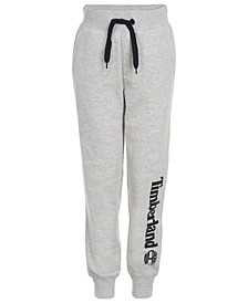 Big Boys Hemlock Light Gray Heather Logo-Print Joggers