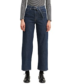 Levi's® Mile High Belted Cropped Wide-Leg Jeans