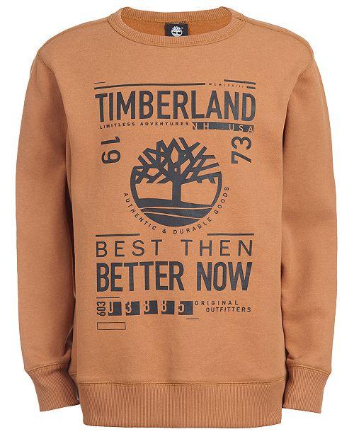 Timberland Big Boys Sawyer Wheat Logo Sweatshirt