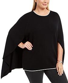 Plus Size Cape-Style Sweater