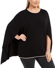 Calvin Klein Plus Size Cape-Style Sweater