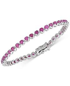 Certified Ruby Tennis Bracelet (6 ct. t.w.) in Sterling Silver