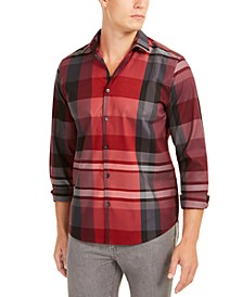 Men's Classic-Fit Plaid Shirt, Created For Macy's