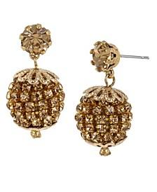 Stone Fireball Drop Earrings