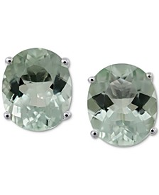 Green Quartz Stud Earrings (8 ct. t.w.) in Sterling Silver