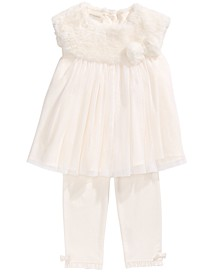 Baby Girls 2-Pc. Faux-Fur Tunic & Leggings Set, Created For Macy's