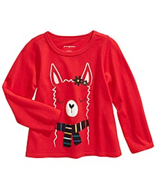 Baby Girls Cotton Llama Scarf T-Shirt, Created For Macy's