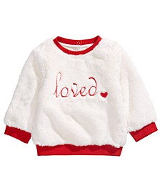 Baby Girls Loved Faux-Fur Sweatshirt, Created For Macy's