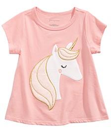 Baby Girls Unicorn-Print Cotton T-Shirt, Created For Macy's