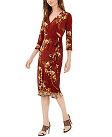 INC Paisley Wrap Dress, Created For Macy's