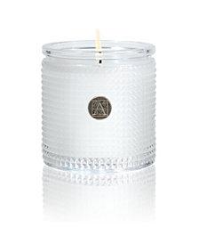 Aromatique White Teak Textured Candle