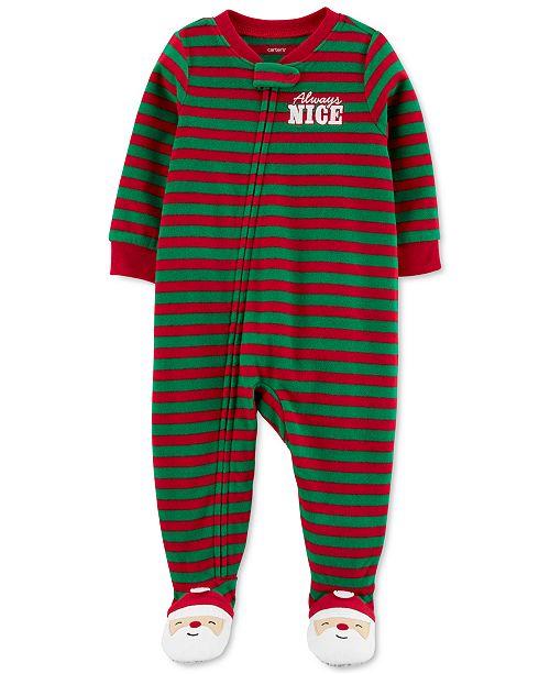 Carter's Toddler Boys 1-Pc. Fleece Footed Always Nice Santa Pajama