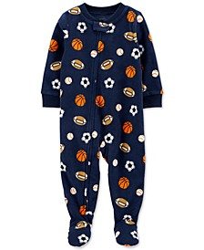 Toddler Boys 1-Pc. Sports Fleece Footie Pajamas