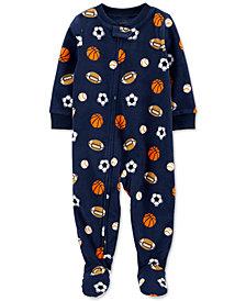 Carter's Toddler Boys 1-Pc. Sports Fleece Footie Pajamas
