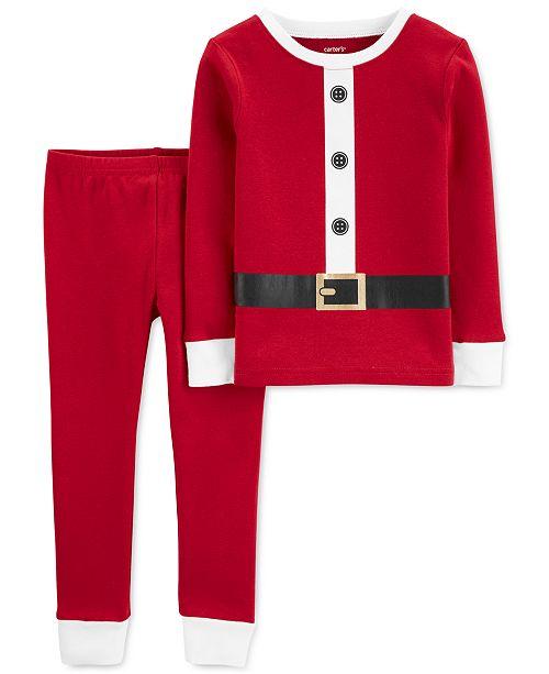 Carter's Baby Boys & Girls 2-Pc. Cotton Santa Pajama Set