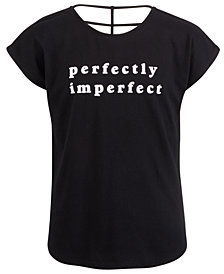 Ideology Big Girls Graphic-Print Strappy-Back T-Shirt, Created For Macy's