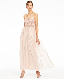 Beaded-Top Gown